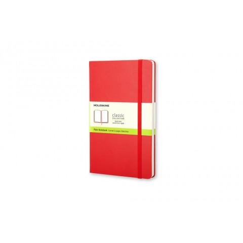 Caderno Moleskine Clássico grande capa dura sem pauta com caneta - VERMELHO