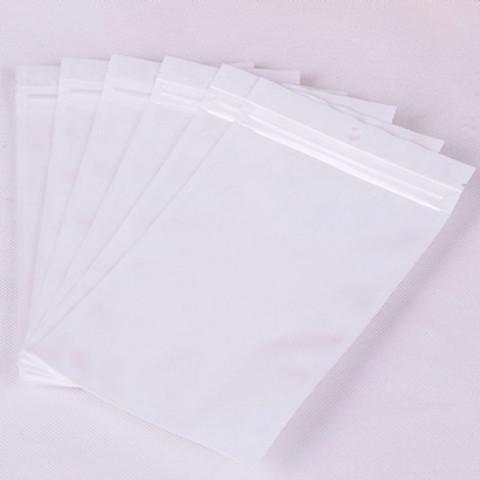 Saco Branco + Transparente 4 x 17cm - 50 UNIDADES