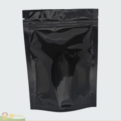 Saco Preto com Zip Lock 17 x 23,5cm - 100 UNIDADES
