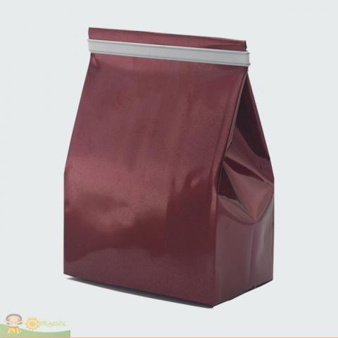 Saco Fundo Quadrado | Vinho + fita metálica – 50 UNIDADES