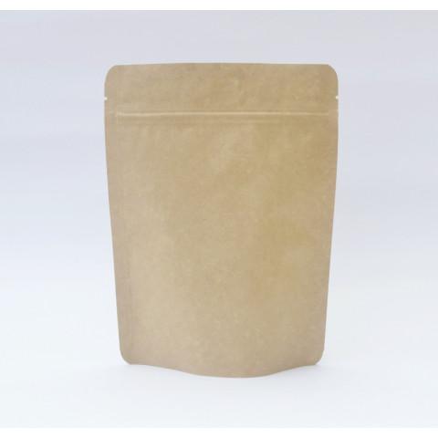 Saco Kraft com Zip Lock 10 x 15cm - 100 UNIDADES