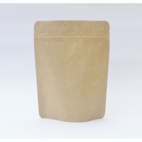 Saco Kraft com Zip Lock 20,5 x 27,5cm - 50 UNIDADES