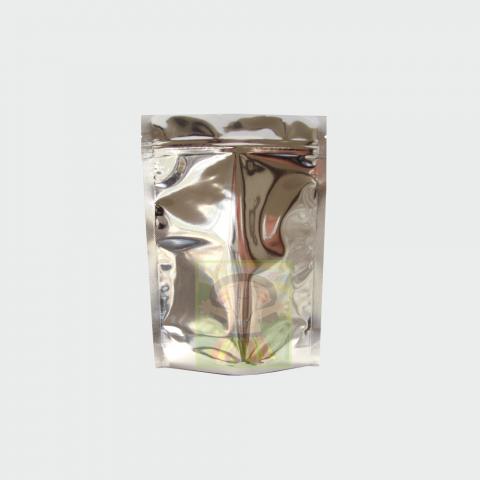 Saco Metalizado com Zip 8 x 12cm - 100 UNIDADES