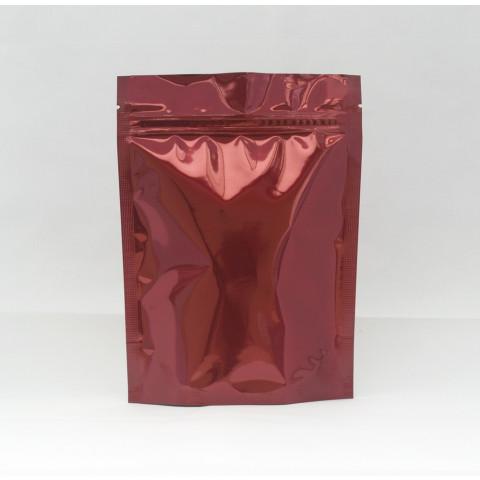 Saco Vermelho Bordô com Zip 8,5 x 12cm - 100 UNIDADES