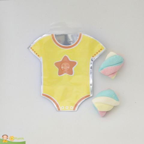 Saquinho Surpresa Baby - Body Amarelo  - 20 UNIDADES