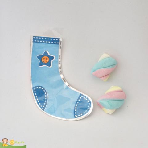 Saquinho Surpresa Baby - Meia Azul  - 20 UNIDADES