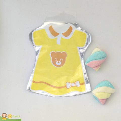 Saquinho Surpresa Baby - Vestido Amarelo  - 20 UNIDADES