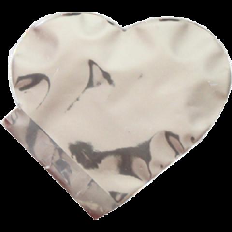 Saquinho Surpresa Coração P - Prata | 20 UNIDADES