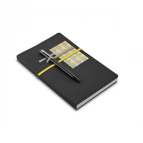 Caderno - Capa Couro Sintético e Porta Cartão 14 x 21cm - unitário