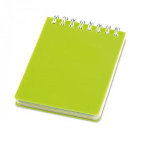 Caderneta - Capa Plástico Rígido PP 7,5 x 10cm - unitário