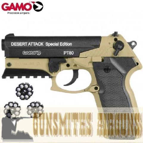 PISTOLA CO2 GAMO PT-80 DESERT ATTACK SE - 4,5MM
