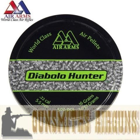 CHUMBINHO AIR ARMS DIABOLO HUNTER 5,50MM - CAIXA COM 500