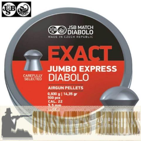 CHUMBINHO JSB EXACT JUMBO EXPRESS ORIGINAL 5,52MM 500PÇs