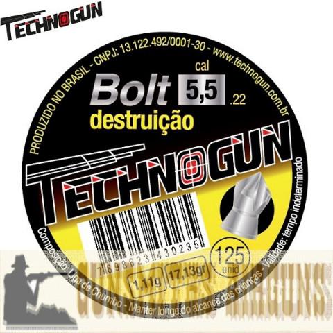 CHUMBINHO TECHNOGUN BOLT 5.5MM 125UN