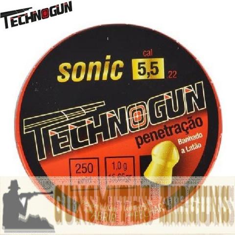 CHUMBINHO TECHNOGUN SONIC GOLD 5.5MM 250UN