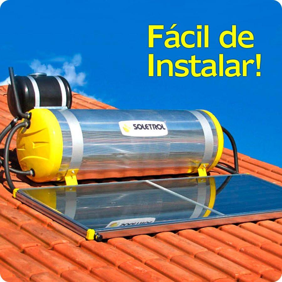 Aquecedor Solar Soletrol Special 200 Litros com Coletor Solar 1.6m² + KIT Instalação - Fácil de Instalar!