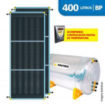 Aquecedor Solar Soletrol Digital 400 Litros com 2 Coletores Solares de 2.0m² - BP
