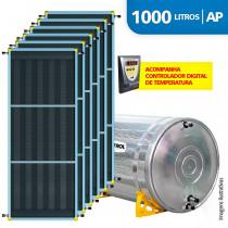 Aquecedor Solar Soletrol 1000 Litros Digital com 6 Coletores Solares de 2.0m² - Alta Pressão