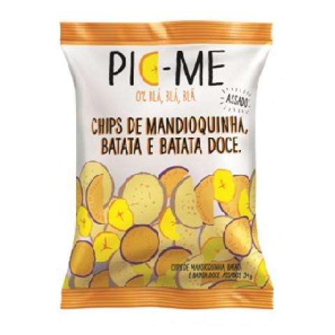Chips De Mandioquinha, Batata E Batata Doce 34g - Pic-Me