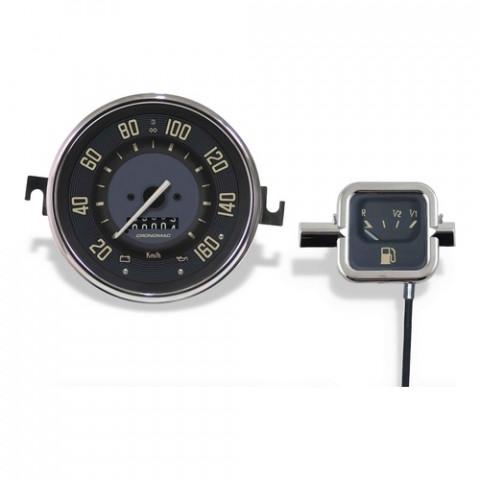 Conjunto Velocímetro 110mm + Indicador de Combustível Modelo Original - Linha Volks Bege