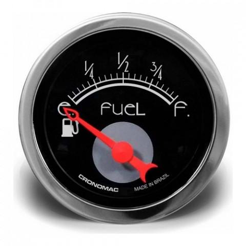 Indicador de Nível de Combustivel 52mm - Linha Hot Rod Black