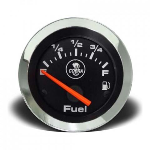 Indicador de Nível de Combustivel 52mm - Linha Shelby Cobra Preto