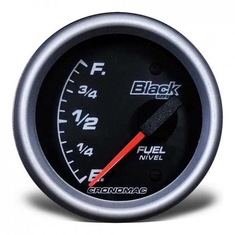 Indicador de Nível de Combustivel 60mm  - Linha Black Series