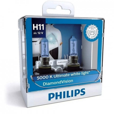 KIT LÂMPADAS H11 DIAMOND VISION 5000K  55w 12v