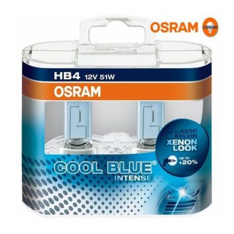 KIT LÂMPADAS HB4 (9006) COOL BLUE INTENSE  - 4200K 12V 51W OSRAM