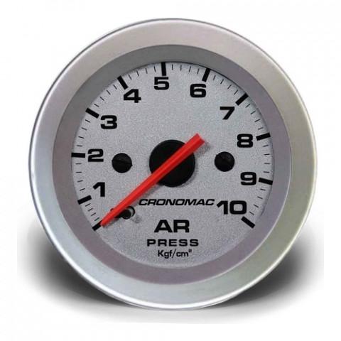 Manômetro de Pressão de Ar 0-10kgf/cm² Mec. - Linha Racing