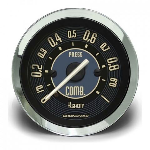 Manômetro de Pressão de Combustível 52mm - Linha Volks Bege