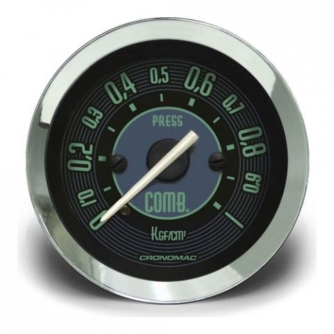 Manômetro de Pressão de Combustível 52mm - Linha Volks Verde