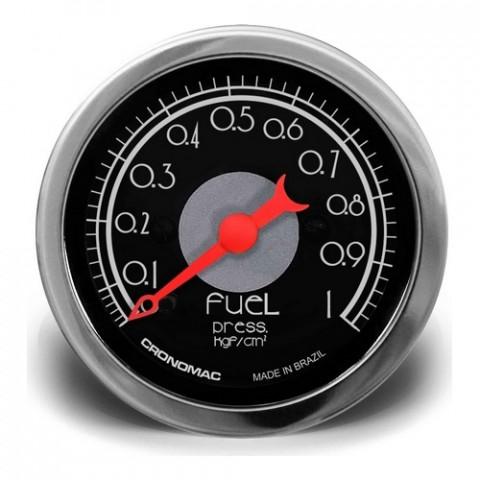 Manômetro de Pressão de Combustível 52mm Mec. - Linha Hot Rod Black
