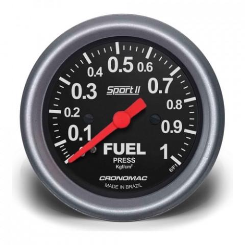 Manômetro de Pressão de Combustível 60mm - Linha Sport II