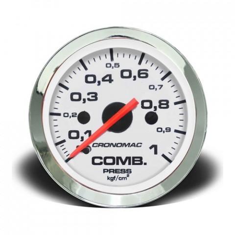 Manômetro de Pressão de Combustível Mec. - Linha Croma Branca