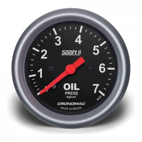 Manômetro de Pressão de Óleo 0-10kgf/cm² 60mm - Linha Sport II