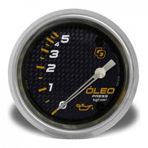 Manômetro de Pressão de Óleo 60mm Elétrico - Linha Carbono