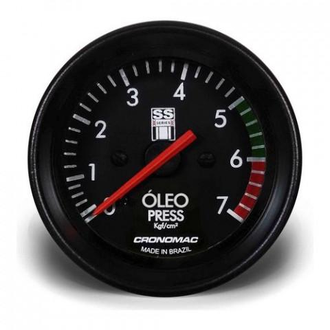 Manômetro de Pressão de Óleo 60mm - Linha SS