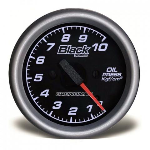 Manômetro de Pressão de Óleo 60mm Mec 0-10kgf/cm² - Linha Black Series