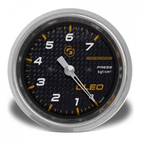 Manômetro de Pressão de Óleo 60mm Mec - Linha Carbono