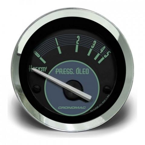 Manômetro de Pressão de Óleo Elétrico 0-5kgf/cm² 52mm - Linha Volks Verde