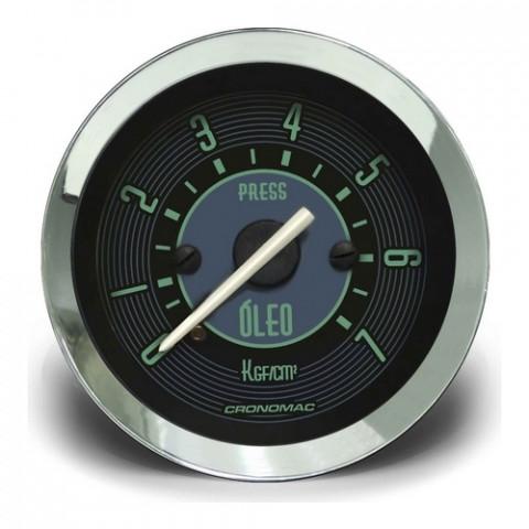 Manômetro de Pressão de Óleo Mec. 0-7kgf/cm² 52mm - Linha Volks Verde