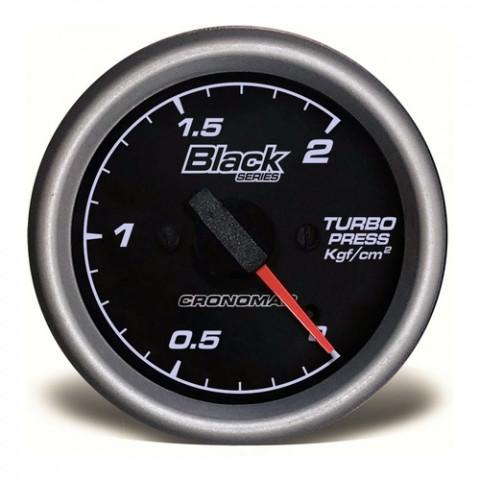Manômetro de Pressão do Turbo 60mm Mec. - Linha Black Series