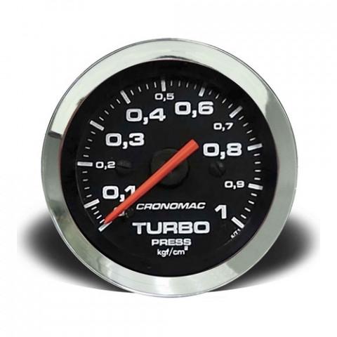 Manômetro de Pressão do Turbo Mec. - Linha Croma Preta