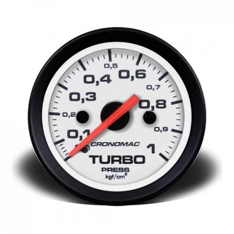 Manômetro de Pressão do Turbo Mec. - Linha Street Branca