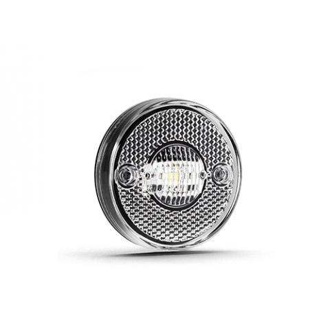 Lanterna de LED Bi-volts de Posição Lateral Cristal  65 mm.