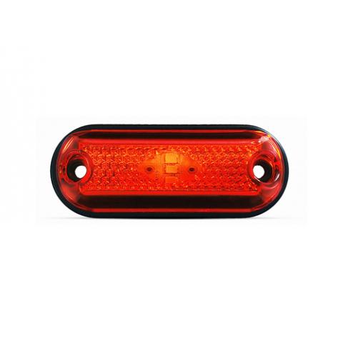 Lanterna de LED Bi-volts de Posição Lateral Delimitadora para Baú Vermelha