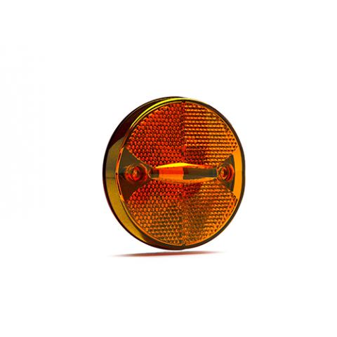 Lanterna de LED Bi-volts de Posição Lateral Ambar 85 mm.