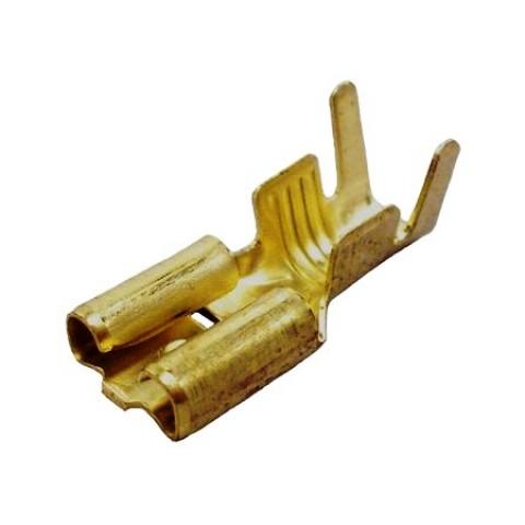 TERMINAL DE ENCAIXE  FEMEA 6,3mm PARA FIO 2,5mm A 6,0mm