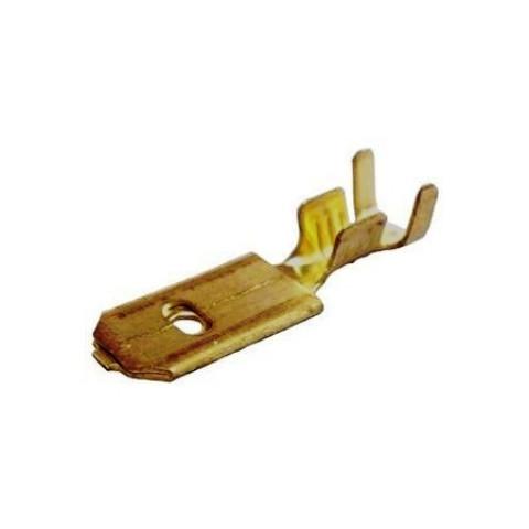 TERMINAL DE ENCAIXE MACHO 6,3mm  PARA FIO 1,0mm A 2,5mm